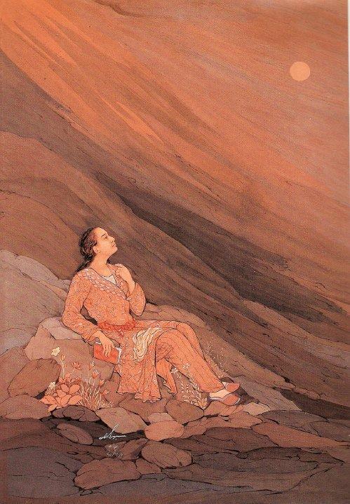 جوانی خیام – اثر استاد حسین بهزاد
