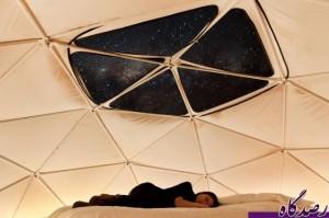 خوابیدن در زیر آسمان پر ستاره